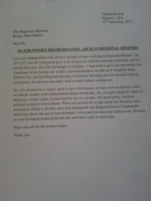 Abuse,discrimination in Regional Ministry.